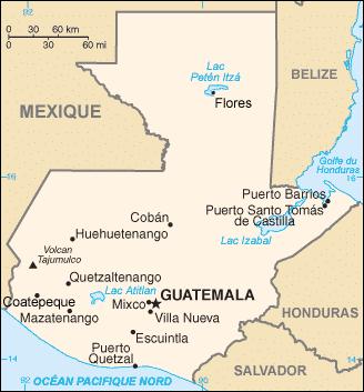 guide de voyage au Guatemala la carte