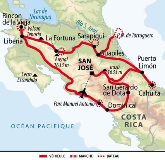 Circuit à Costa Rica