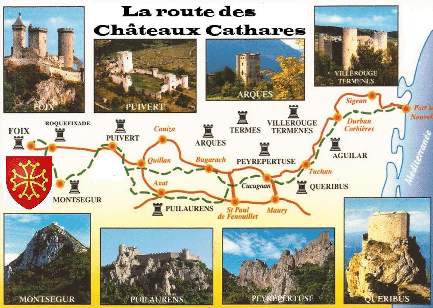 La route des Chateaux Cathares 2021