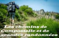 Les chemins de Compostelle et de grandes randonnées.