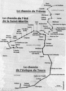 Les chemins de St Martin de Tour