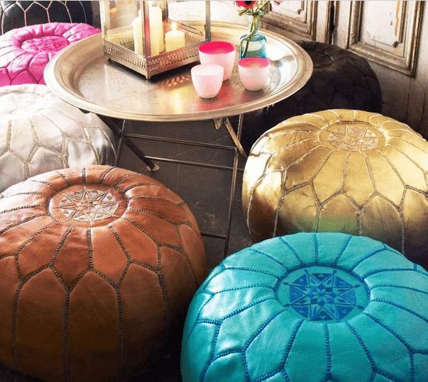 Séjour dans un riad marocain les poufs