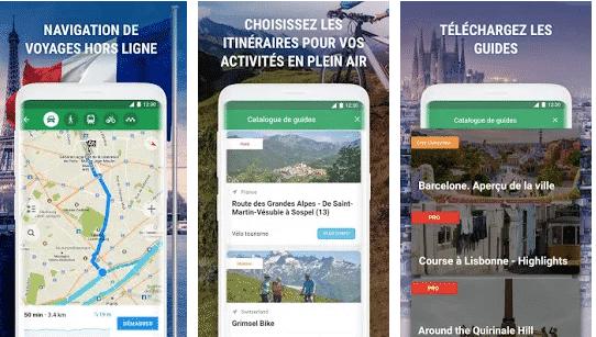 Informations de voyageurs autour du Monde MapsMe