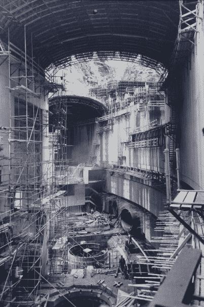 la construction du barrage de Monteynard.intérieur