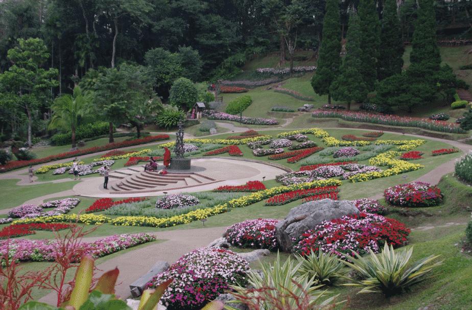 la flore en Asie la parc Botanique de la Reine Thailandaise