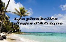 Les plus belles plages d'Afrique