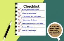 Checklist voyage tour du monde