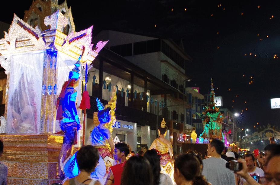 La fête des lumières et Loy Krathong Le spectacle