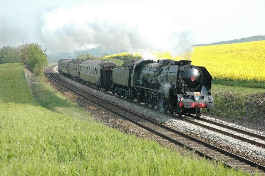 les trains à vapeur de FRANCE Le train du Creusot