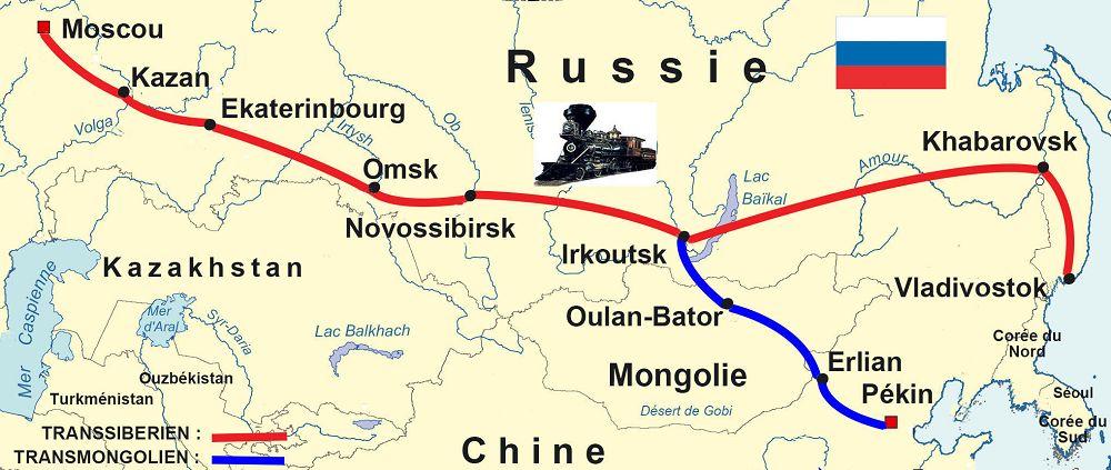 le trajet plus long en train Le transmongolien