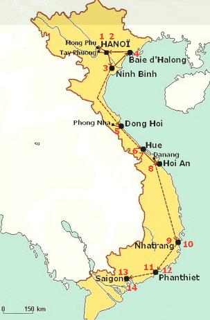 le train au Vietnam