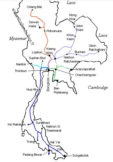 le train en Thailande