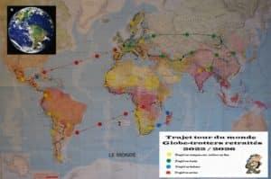 Intinéraire Tour du monde juin 2022 à mars 2026