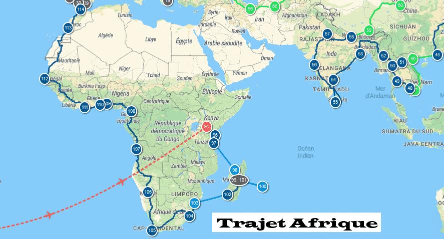 Itinéraire Afrique