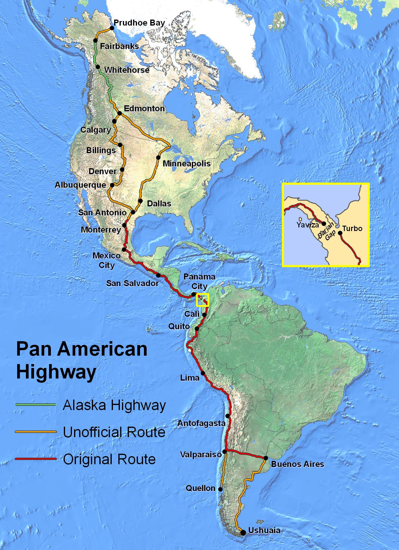 La route la plus longue du monde La Panaméricaine