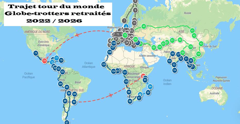 trajer tour du monde 2022 / 2026