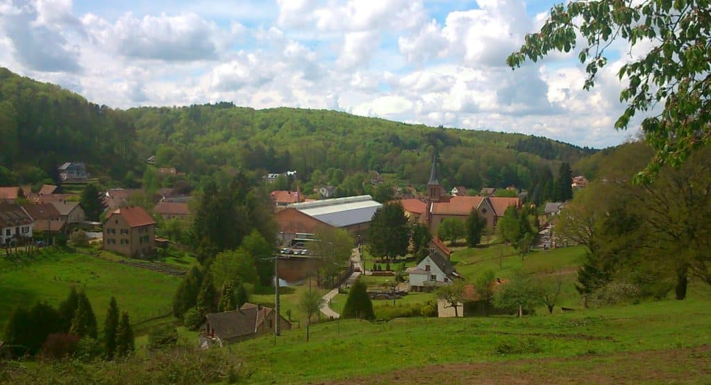 La verrerie de Meisenthal.le village de la verreier
