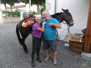 Randonner avec un âne rencontre avec Viviane