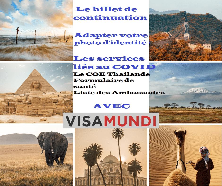Billet de continuation tour du monde avec VISAMUNDI