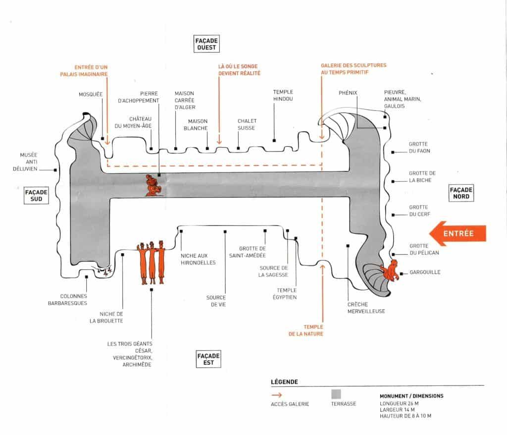 Le plan du palais du facteur cheval
