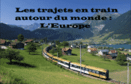 Les trajets en train autour du monde : L'Europe