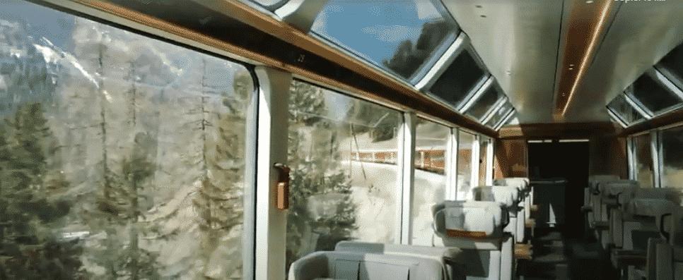 Les trajets en train aoutour du monde wagon glacier express