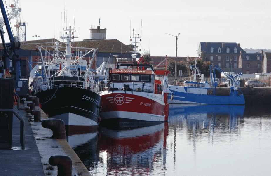 les lieux à voir entre Berck et Fécamp le port de Dieppe