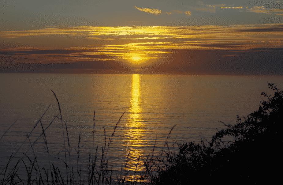 les lieux à voir entre Berck et Fécamp.coucher de soleil à Berck