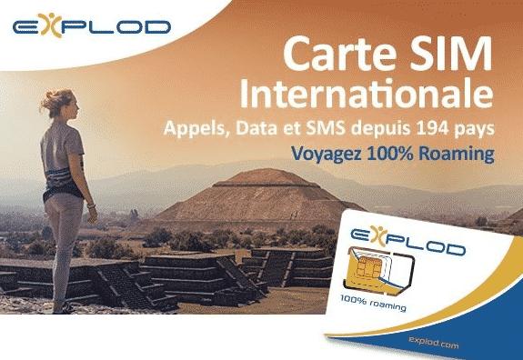 quelle carte SIM de voyage autour du monde les cartes Explod