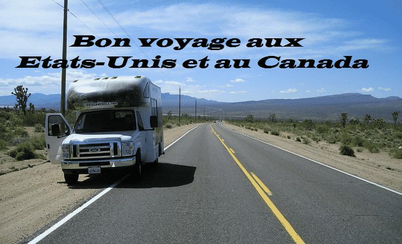 Bon voyage aux Etats-Unis et Canada