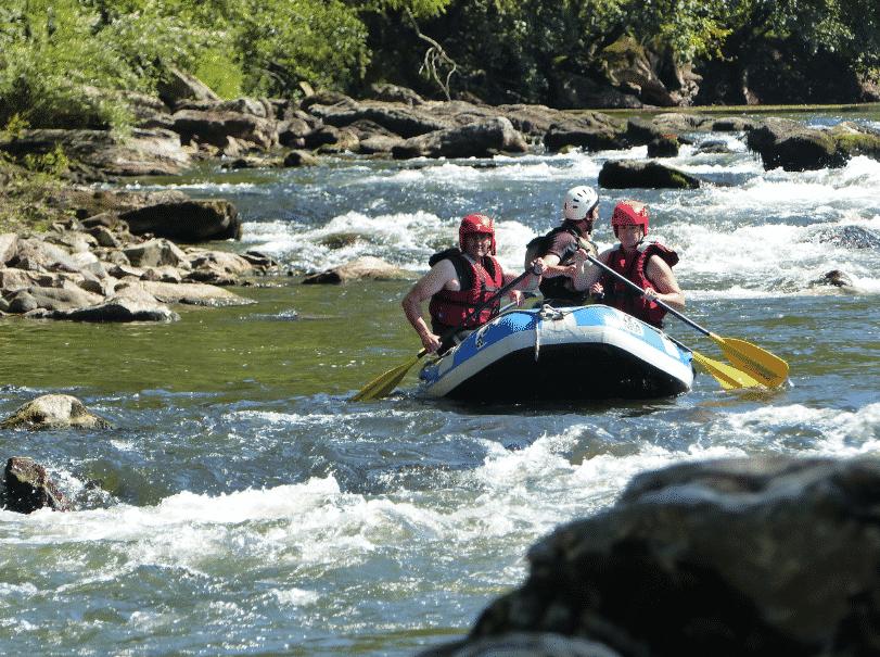 Rafting au pas de Roland